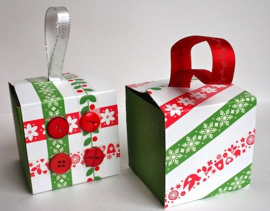 Gift Box Christmas Decorations Recycled Gift Box Ornaments Thanks To Starbucks  Washi Tape