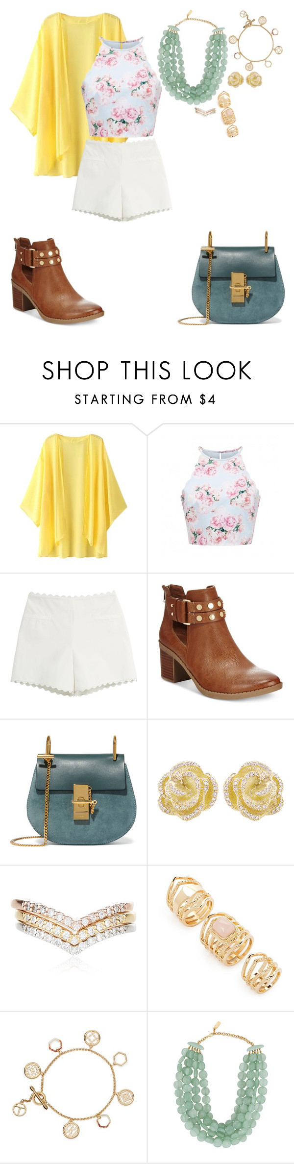 """""""Spring cleaning"""" by brook-wilson ❤ liked on Polyvore featuring Escalier, Forever New, Moschino Cheap & Chic, Bar III, Chloé, Effy Jewelry, Accessorize, Forever 21, Tory Burch and Dominique Denaive"""