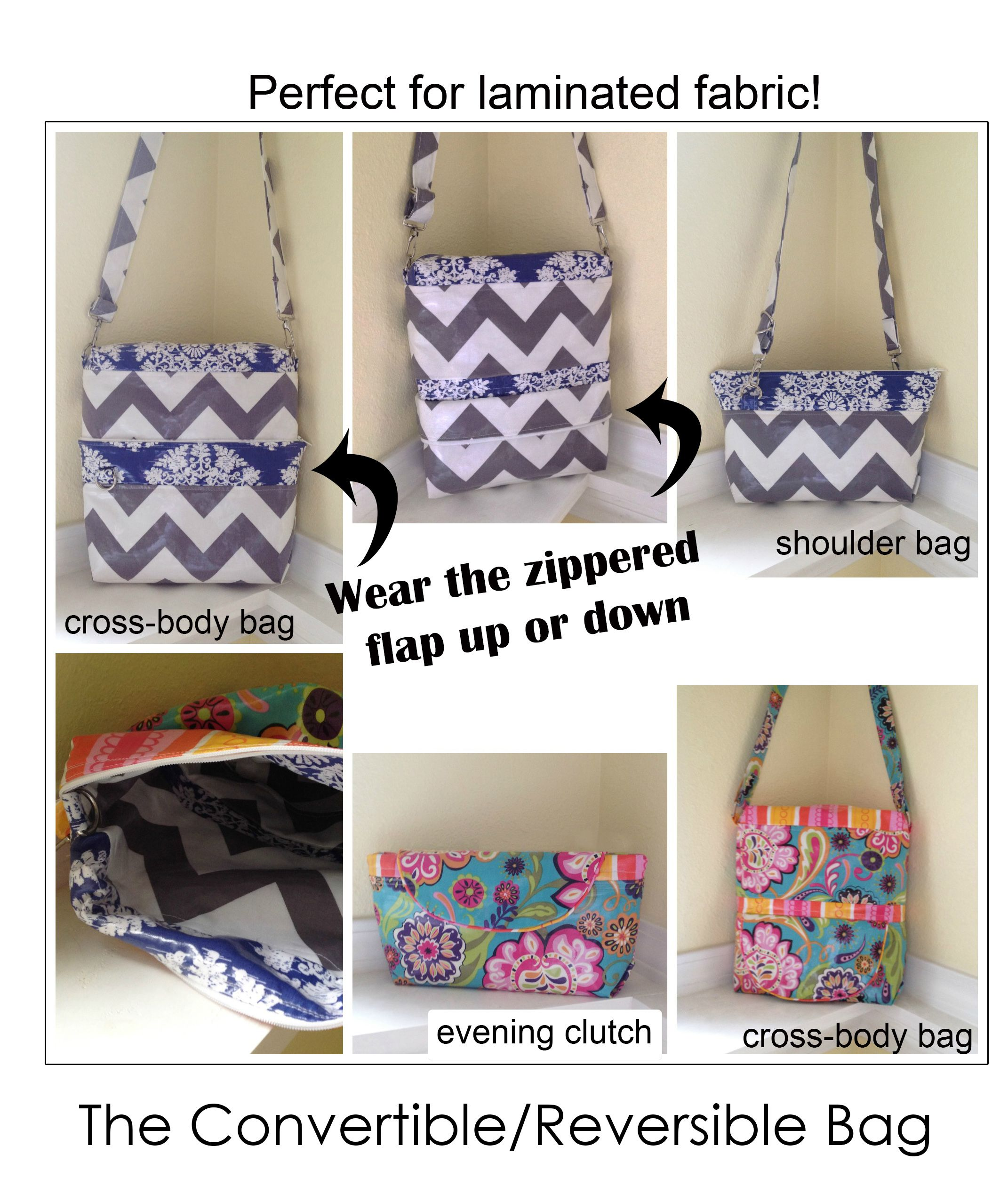 Convertible Reversible 4-in-1 Bag | Bag sewing patterns, Nest and Cozy