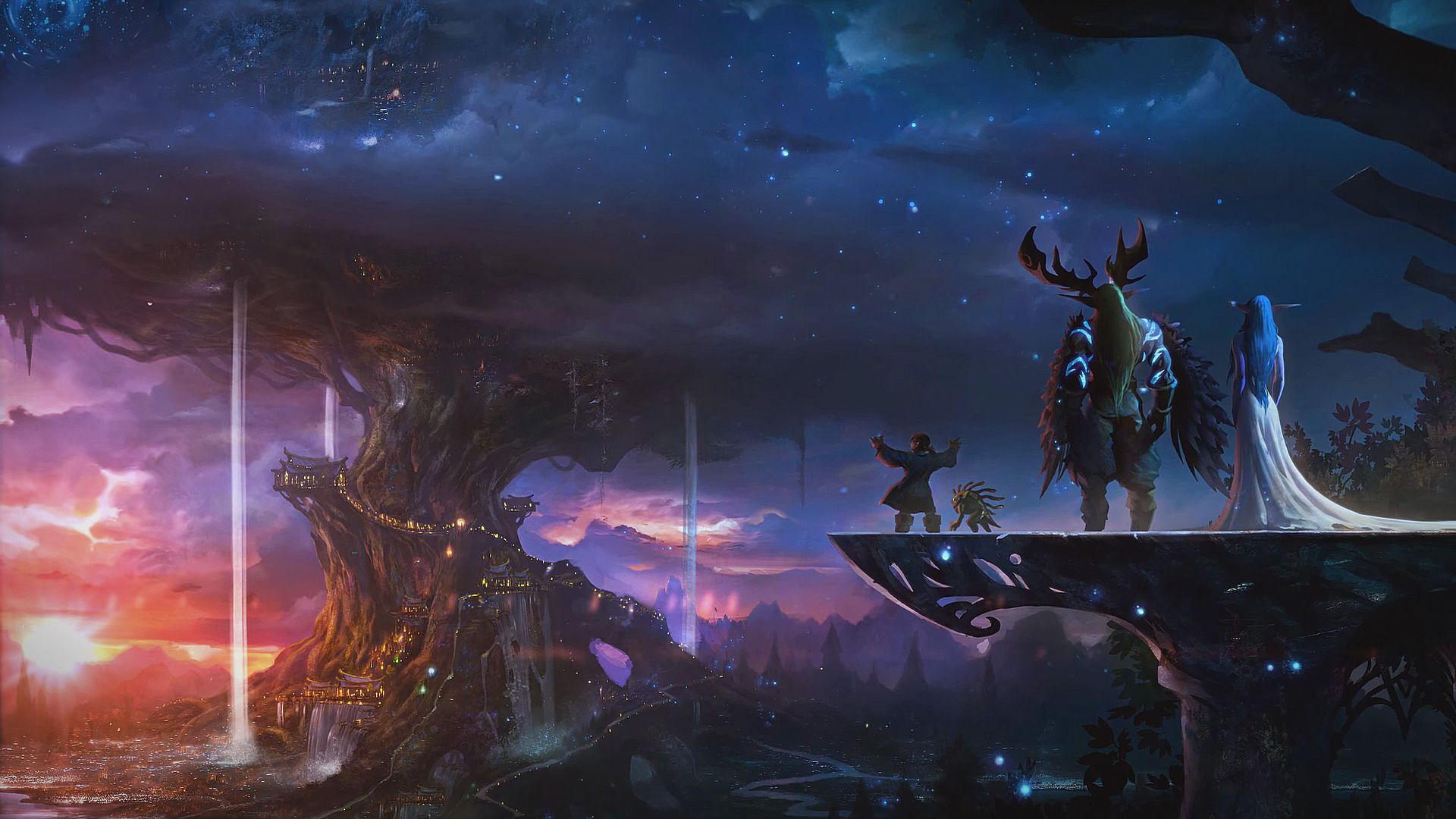 Wow Traveler Wallpaper 1920x1080 World Of Warcraft Wallpaper World Of Warcraft Druid Warcraft Art