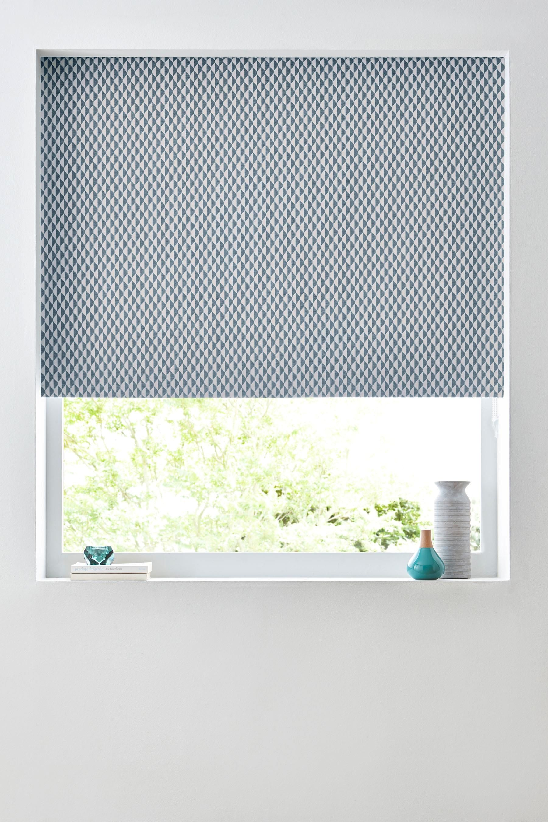 Buy Teal Abstract Geo Blackout Roller Blind from the Next UK online ...