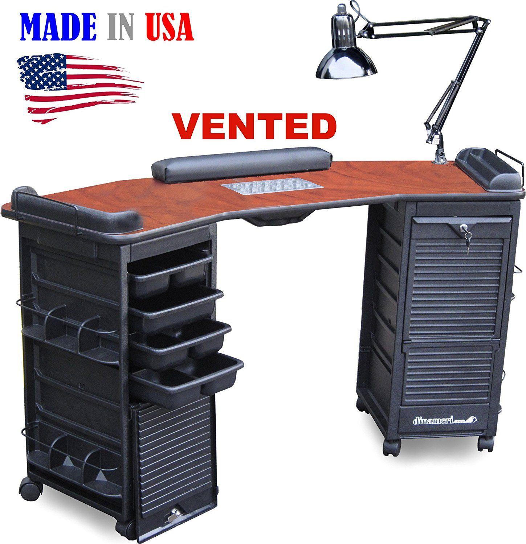 Amazon.com: M603 Vented Manicure Nail Table Double Lockable Cabinet ...