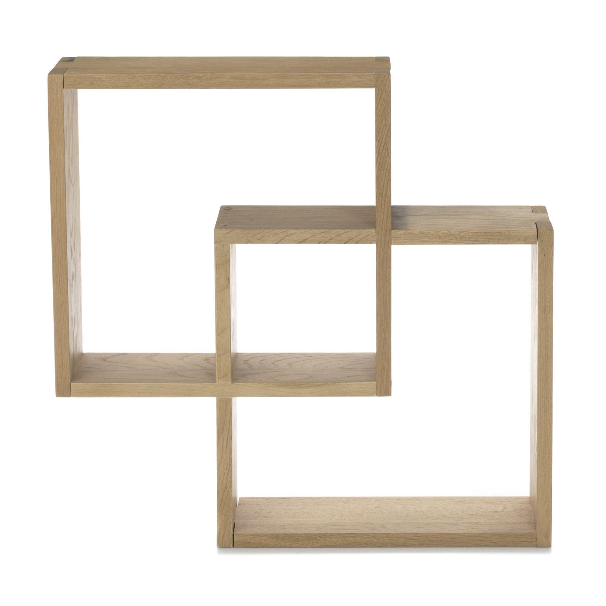 tag re cube murale en ch ne massif naturel tassia tag res livings et tag res de salon. Black Bedroom Furniture Sets. Home Design Ideas