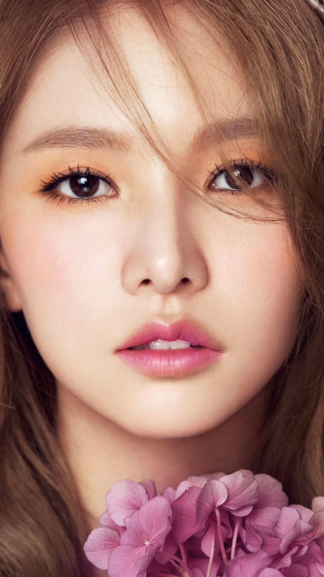 Kpop Girl Flower Cute Pink Red iPhone 8 Wallpapers