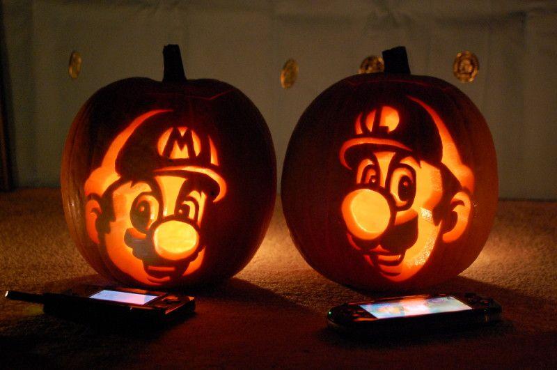 pumpkin template luigi  Pin by Mama Castillo on Halloween | Mario pumpkin, Cute ...