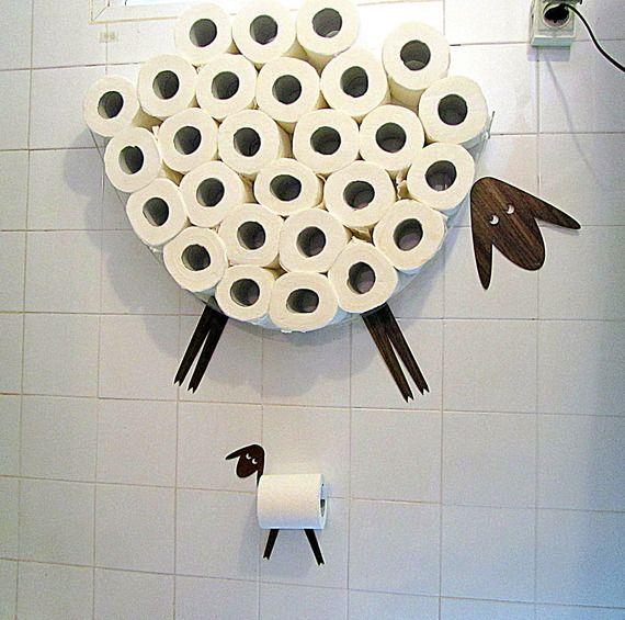 Plus de 25 id es uniques dans la cat gorie porte rouleau sur pinterest porte rouleau de papier - Origineel toilet idee ...