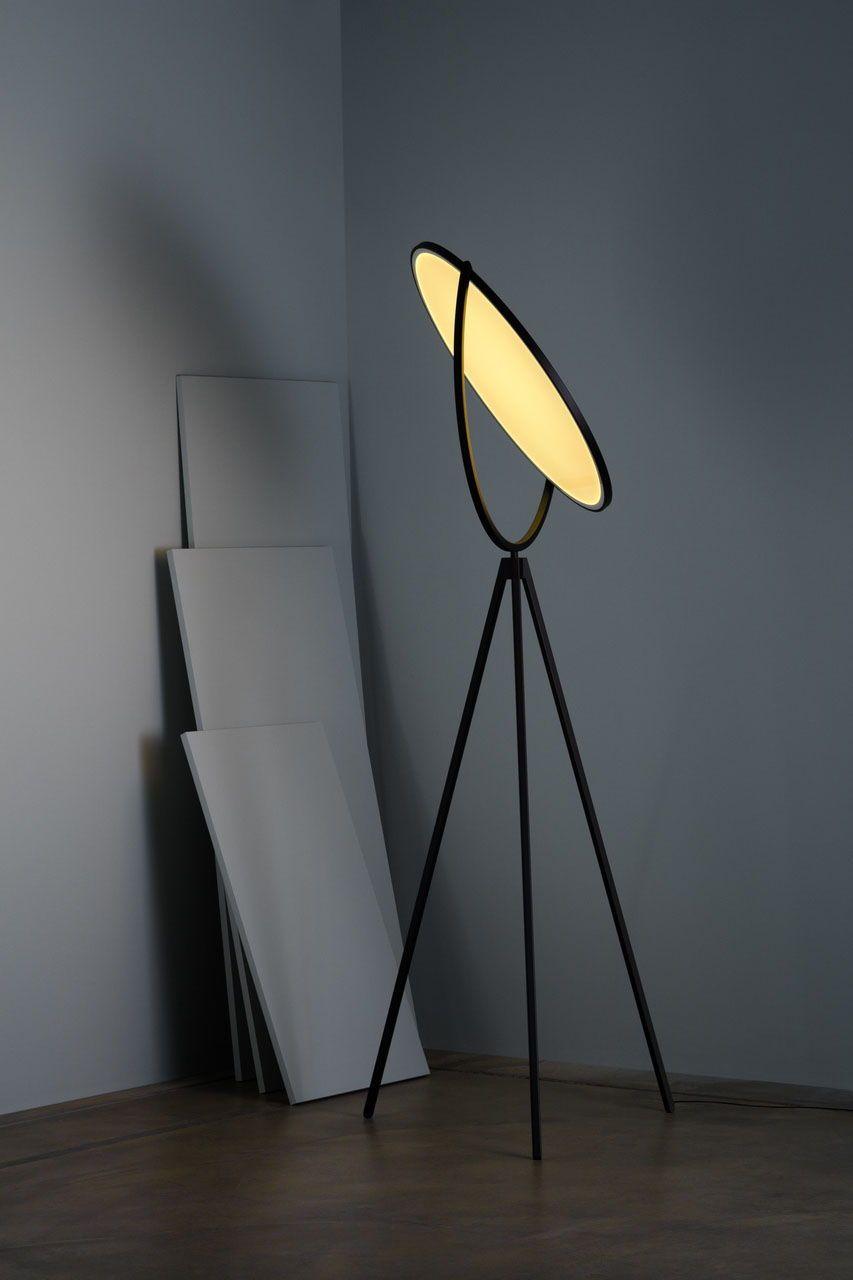 Superloon Led Floor Lamp In Black Or