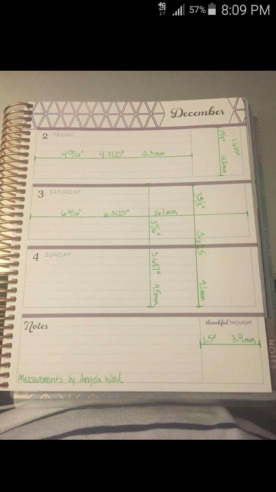 Horizontal Planner Happy