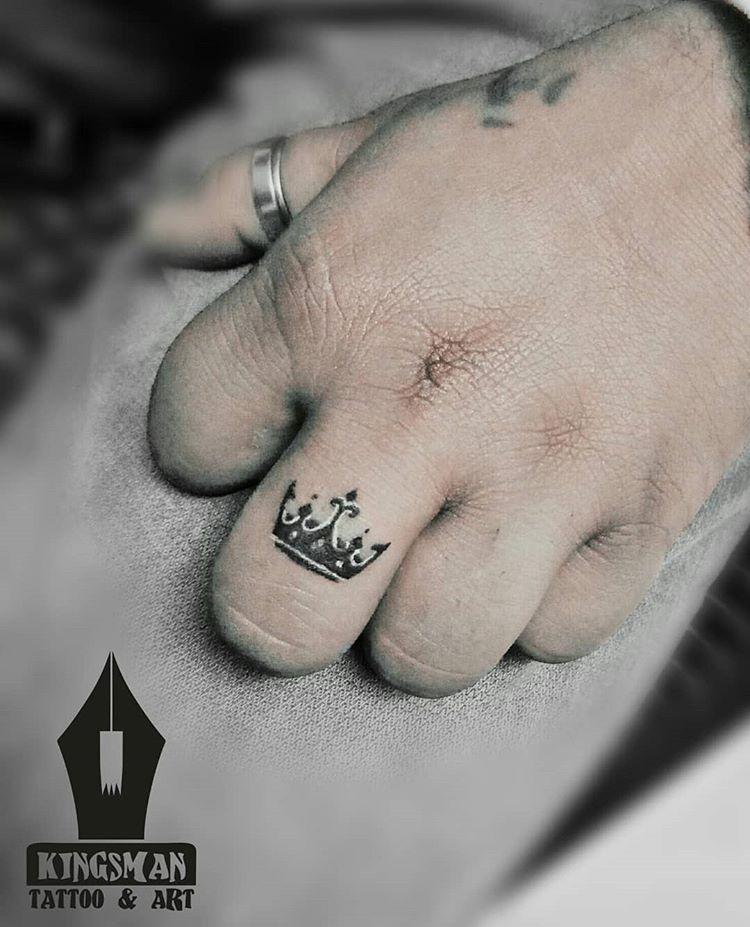 Small Crown Tattoo On Finger Tattoo By Prakash Artist