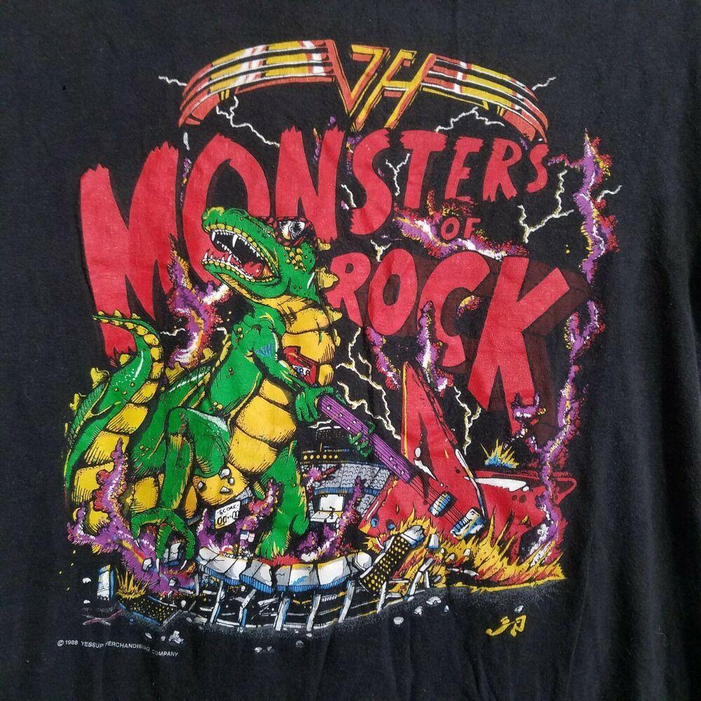1988 Van Halen Monsters Of Rock Alpine Valley Single Stitch Tshirt Large Vintage Unbranded Graphictee In 2020 Stitch Tshirt Van Halen Concert Shirts