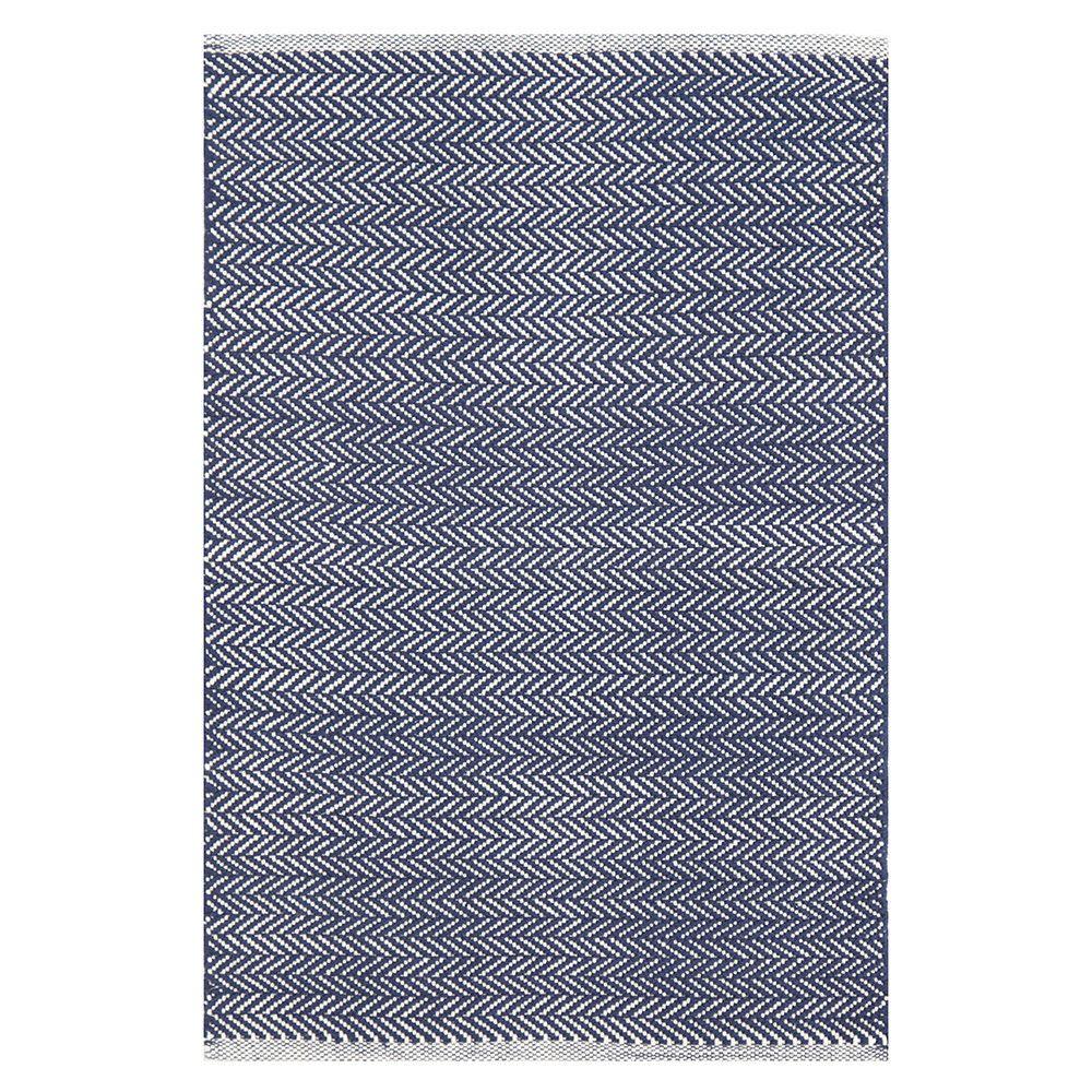 Dash & Albert Herringbone Teppich - Indigo Kaufen | Amara