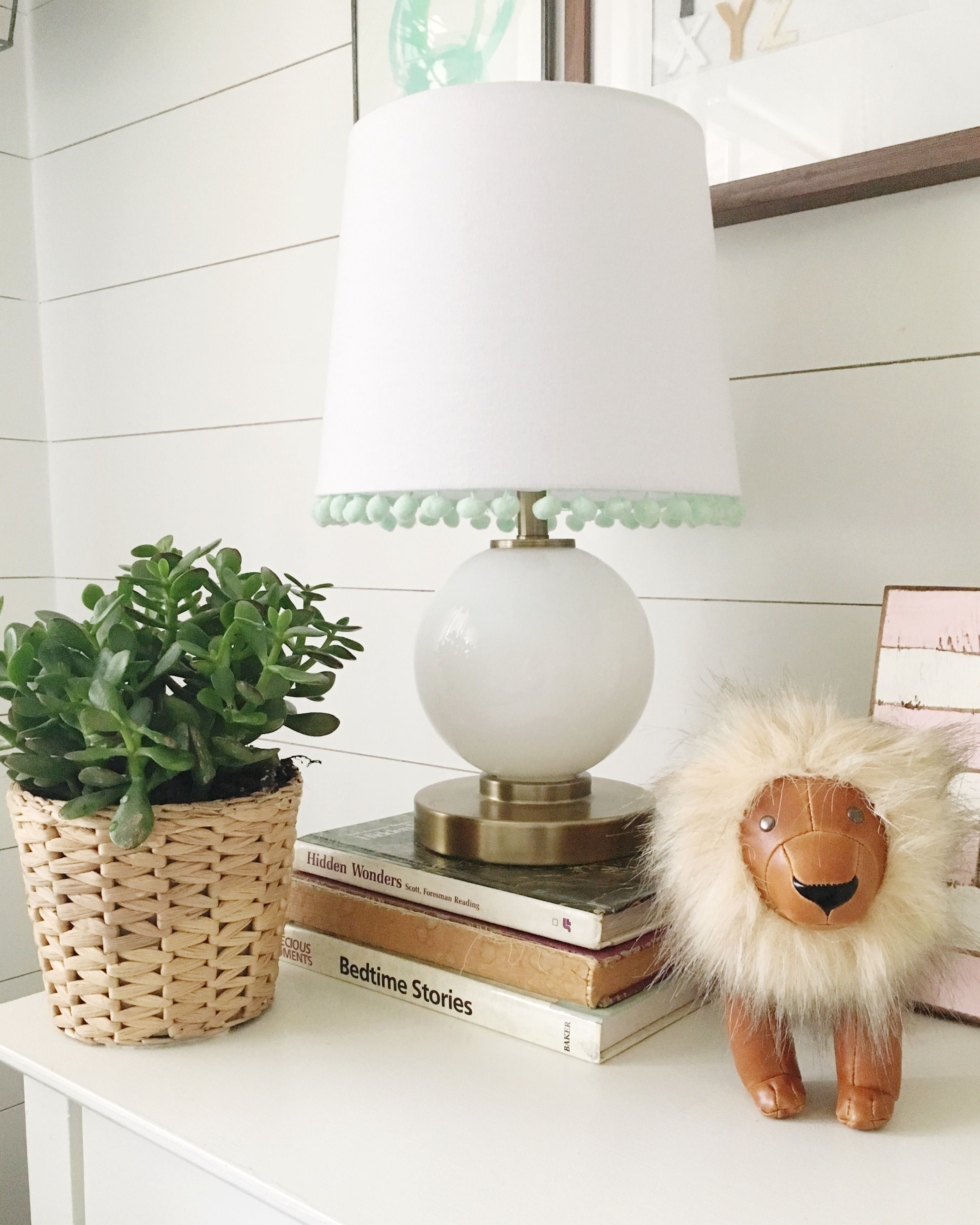 Touches of mint green in the nursery.