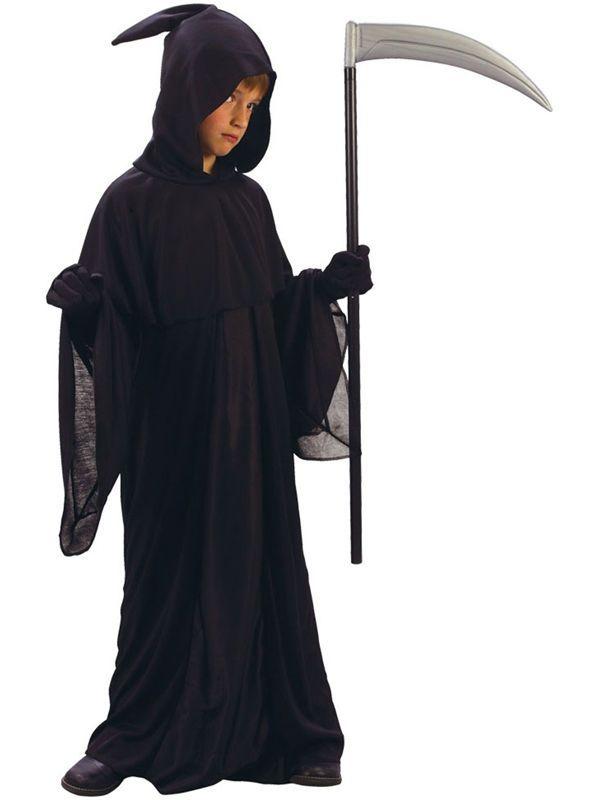 7520cbd26 Childs Age 8-10 Grim Reaper New Fancy Dress Halloween Death Costume Kids  Boys Sc 1 St Pinterest