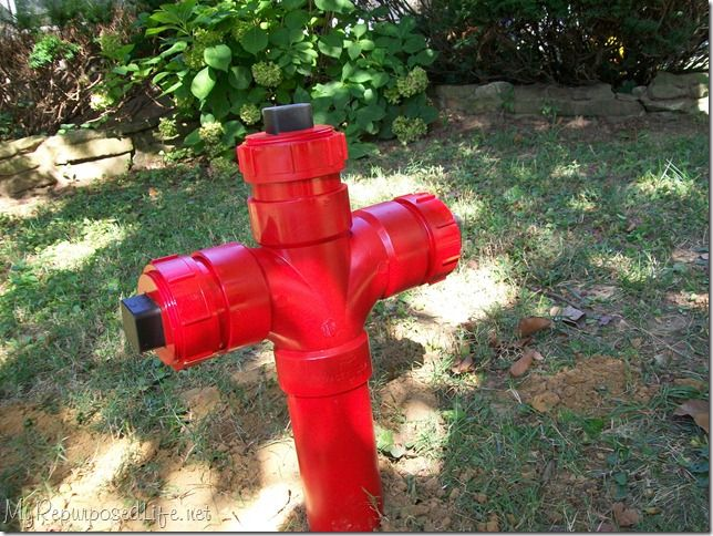 Make Your Own Yard Art Red Fire Hydrant Fire Hydrant Hydrant Fire