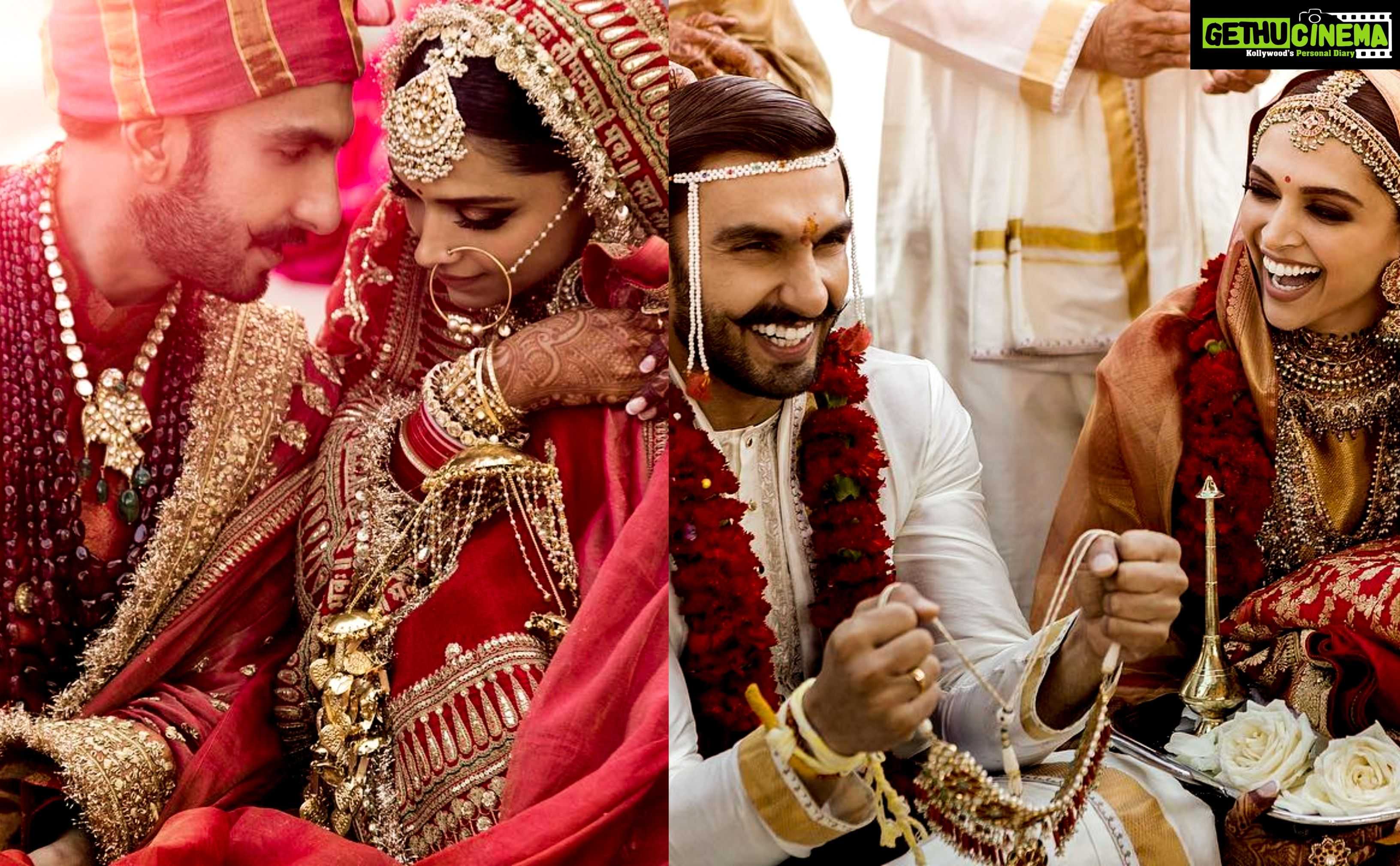 Actor Ranveer Singh Actress Deepika Padukone Wedding Photos Gethu Cinema Bollywood Wedding Deepika Padukone Ranveer Singh