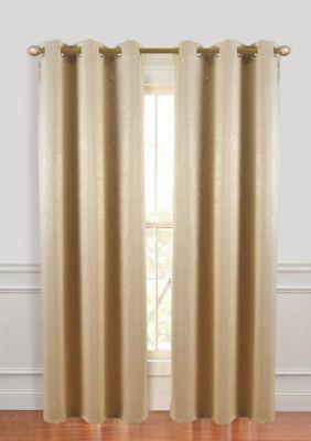 Dainty Home Suede Room Darkening Grommet Window Curtain Panel Pair