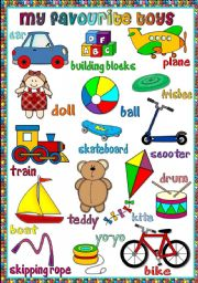 My favourite toys poster ESL worksheet by mada_1 Inglese
