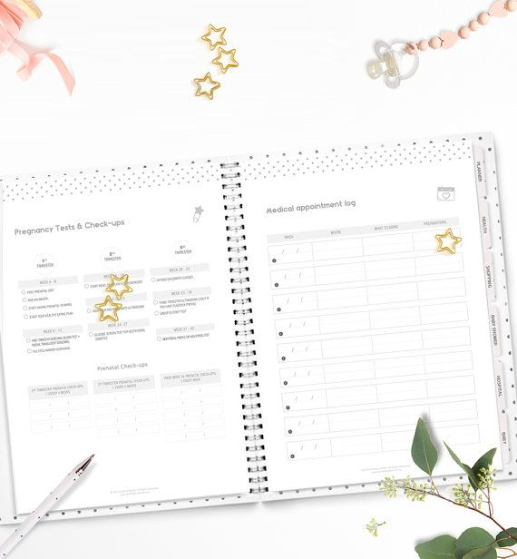 Printable Pregnancy \ Baby Planner u2022 Minimalistic and Stylish - baby shower agenda template