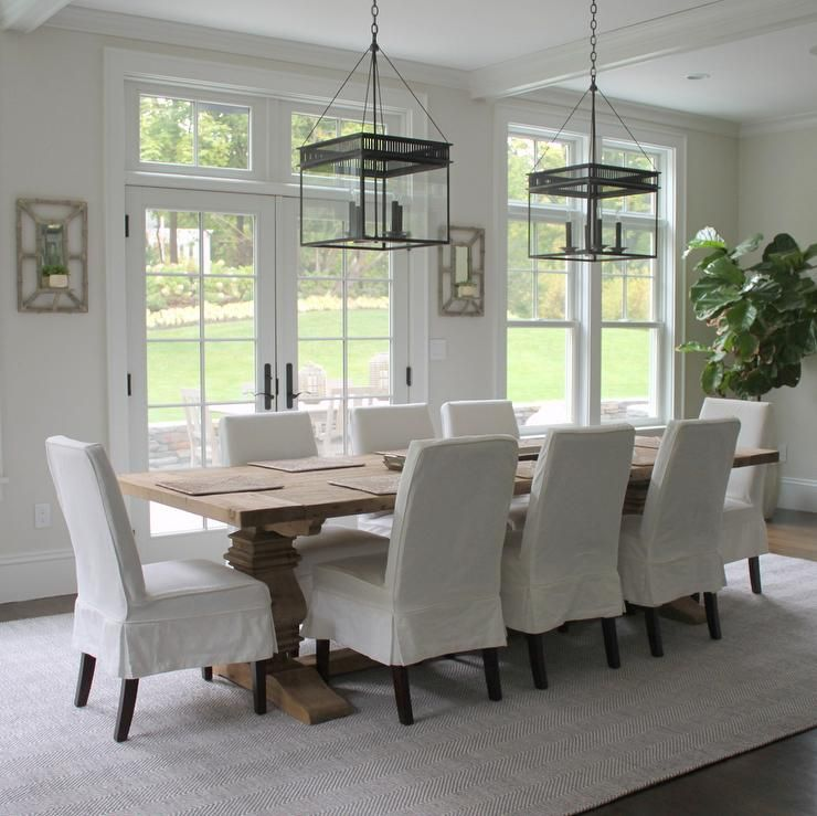 Beautiful Dining Room Features A Pair Of The Urban Electric Co Chisholm Lanterns Illuminating Restoration