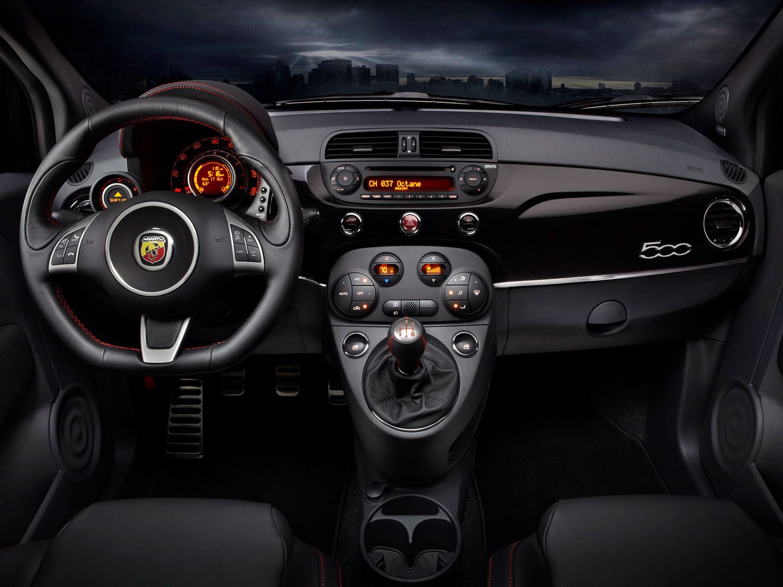 Fiat 500 Abarth Interior Autos Fiat Fiat 500 Autos Y Motos