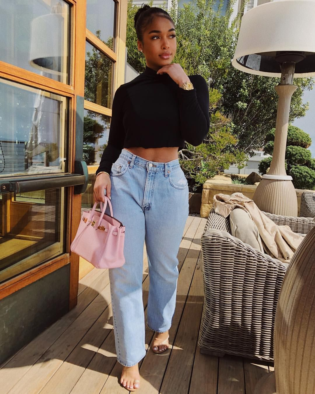 Lori Harvey Mom jeans High waisted jeans (With images ...