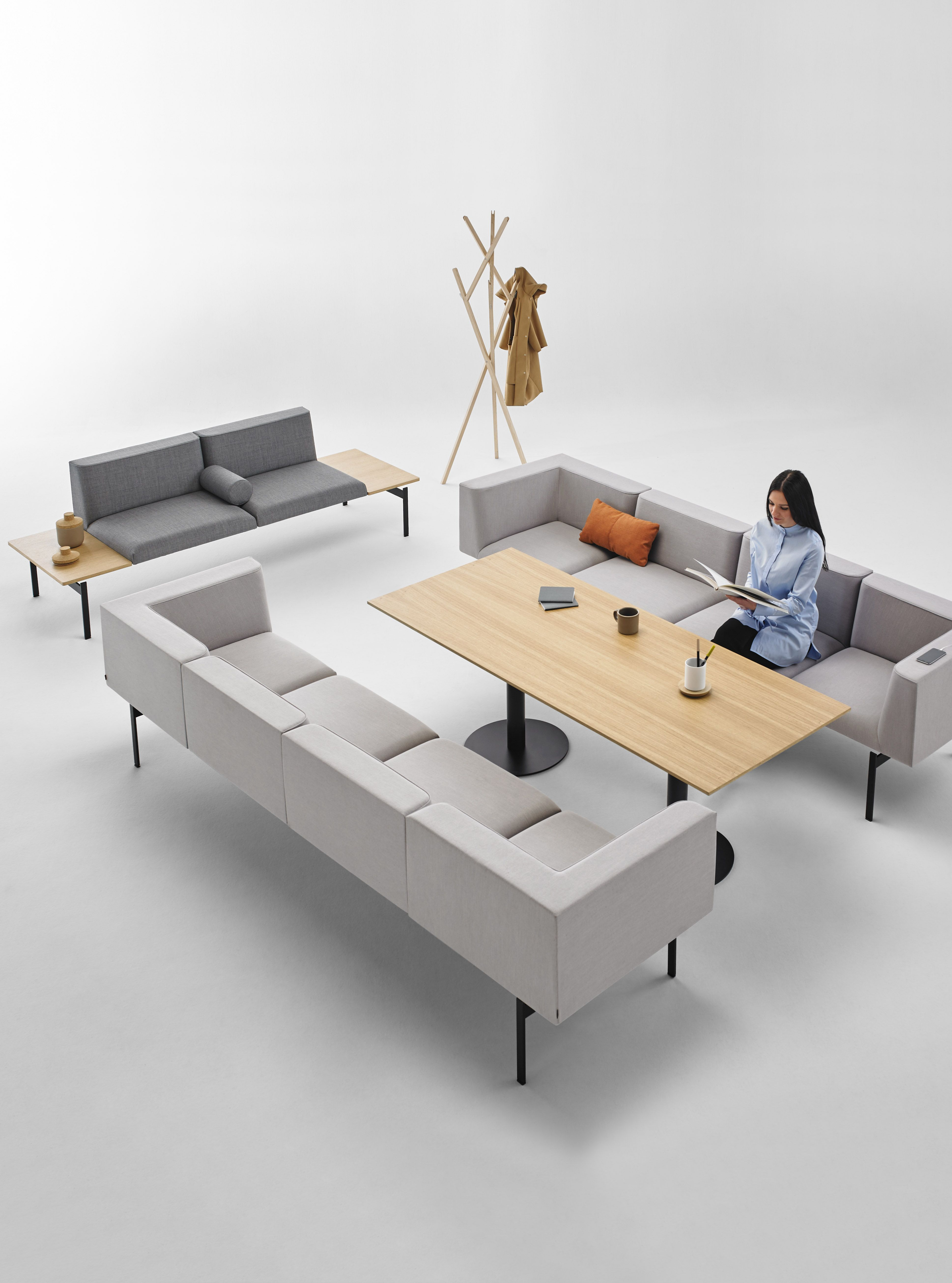 Lapse Modular Seating System In Gray Designed By Carlos