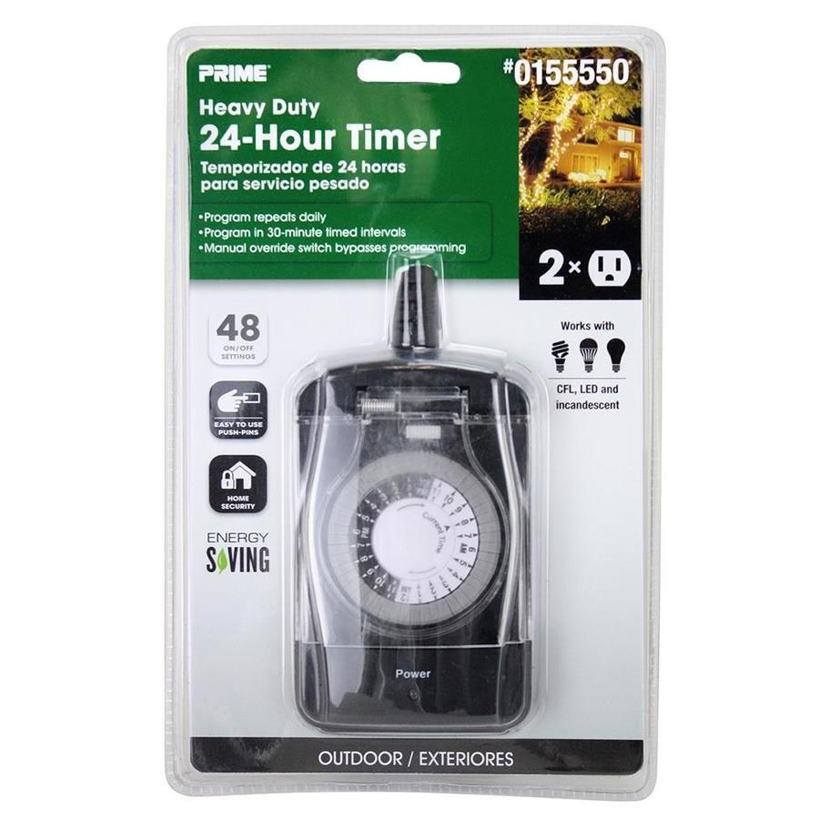 Prime 2 Outlet Mechanical Countdown Lighting Timer Lowes Com In 2020 Lights Timer Timer House Lighting Outdoor