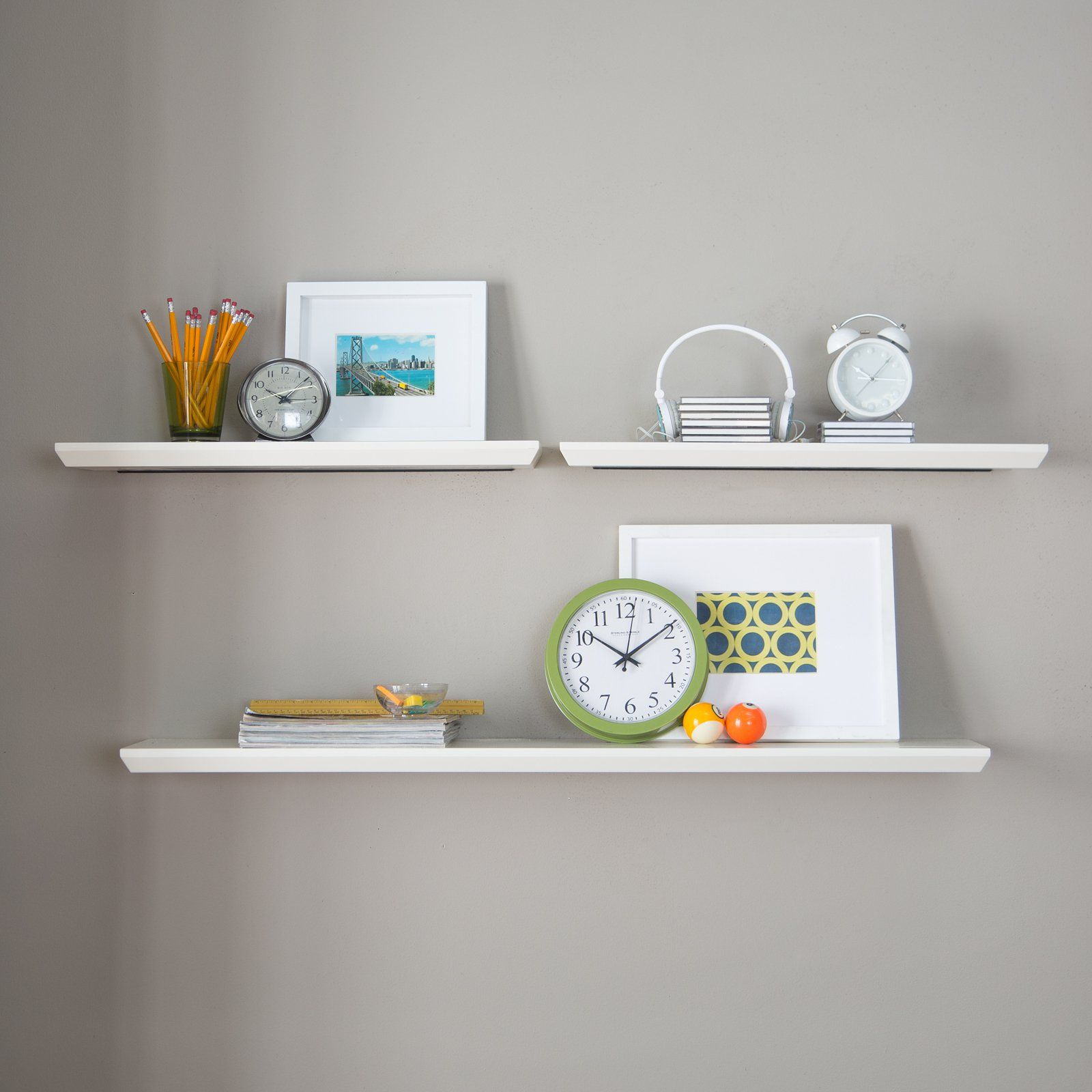 Belham Living Easy Mount Floating Shelves  Set Of 3