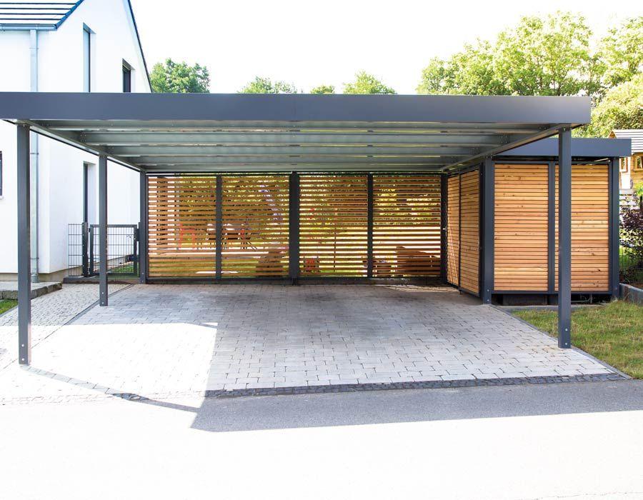 Carport Als Einzelcarport Doppelcarport Reihencarport In 2020 Mit Bildern Anbau Gartenhaus Carport Haus