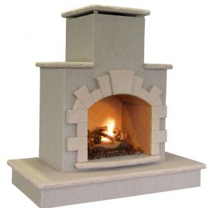 Cal Flame 78 In Propane Gas Outdoor Fireplace Frp908 3 1 With