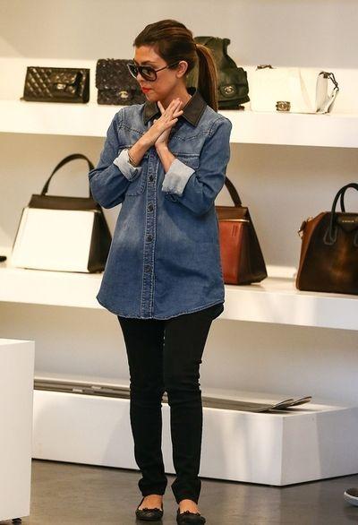 Kourtney Kardashian looks comfy yet polished out shopping in LA