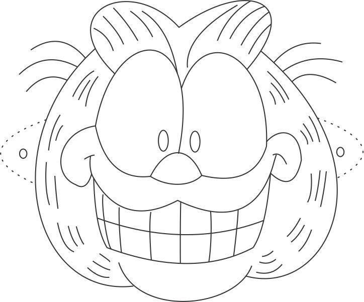 mask printable Garfield Mask printable coloring page for kids - free printable face masks