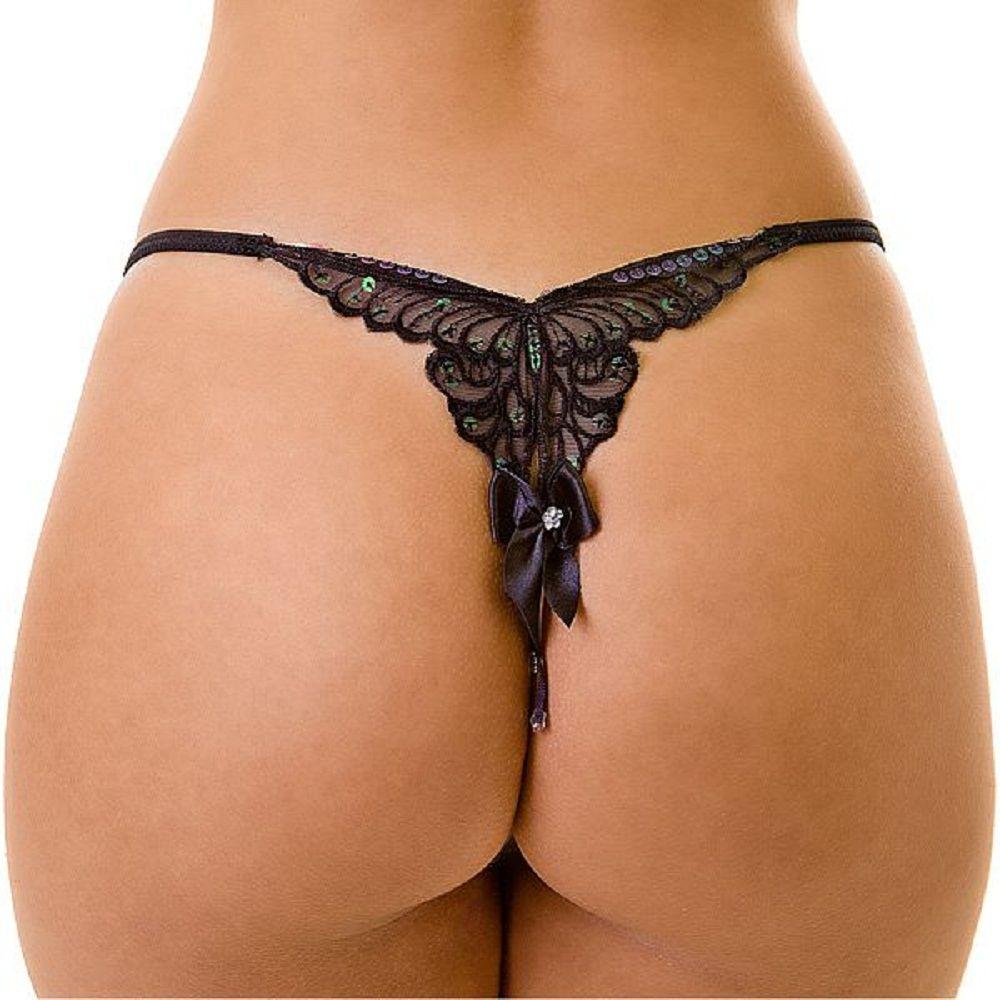 bf176d47d Tanga Butterfly Tanga com bordado em formato de borboleta no bumbum ...