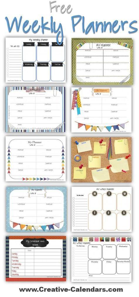 weekly agenda planner