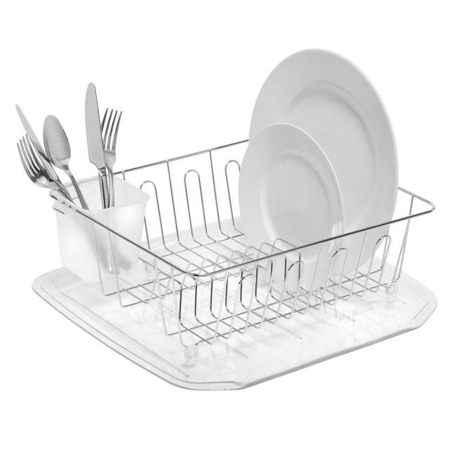 Salt Small Dish Drainer In Silver With Images Dish Drainers