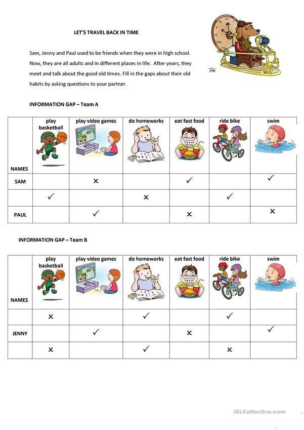 Let\u0027s Travel Back in Time ramla Pinterest English, Worksheets