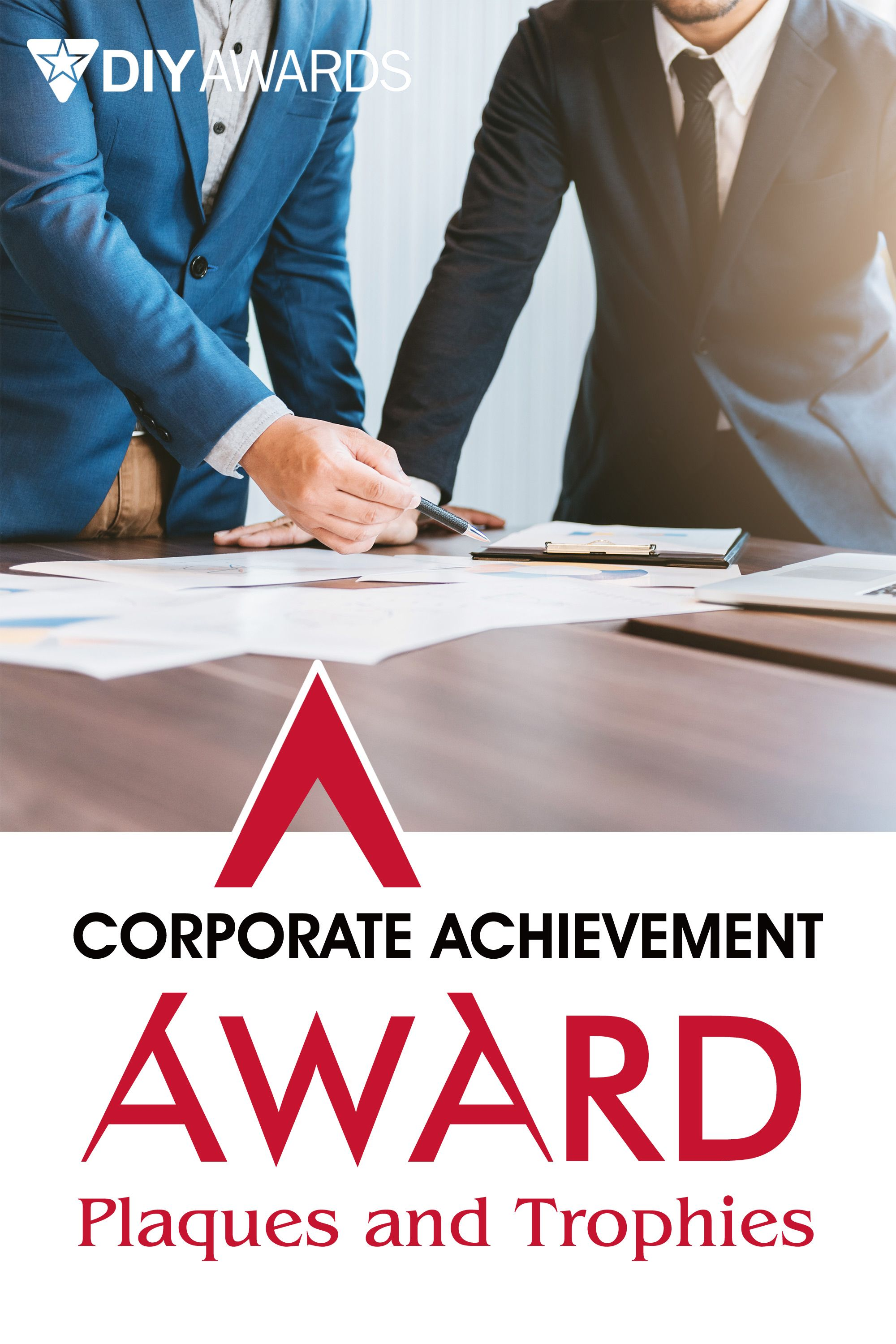 Corporate achievement award plaques and trophies