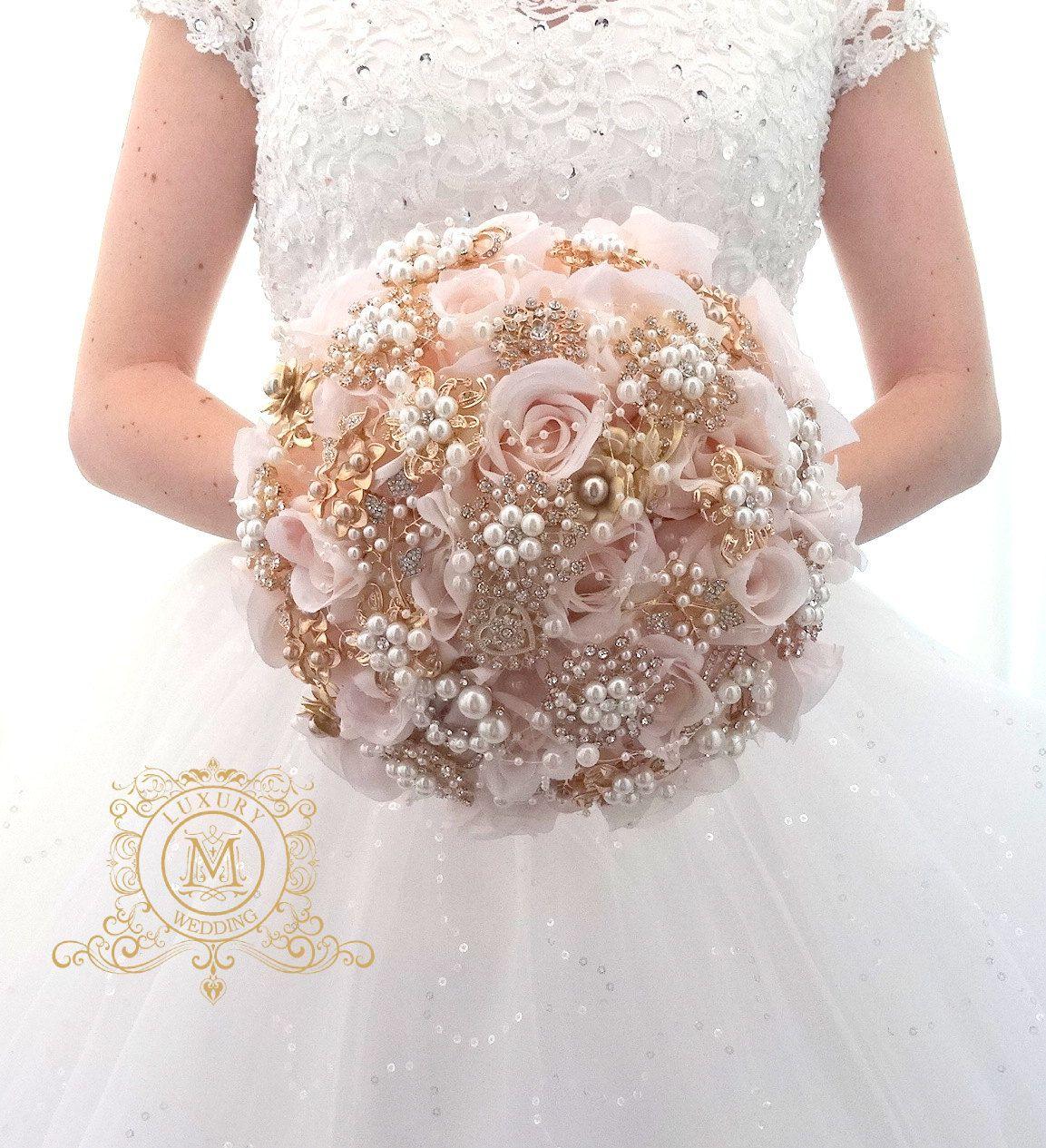 Silver Wedding Bridal Brooch Bouquet Gold Wedding Bouquets