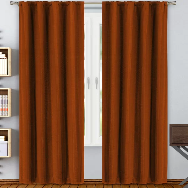 Cassini Solid Blackout Rod Pocket Curtain Panels In 2020 Rod