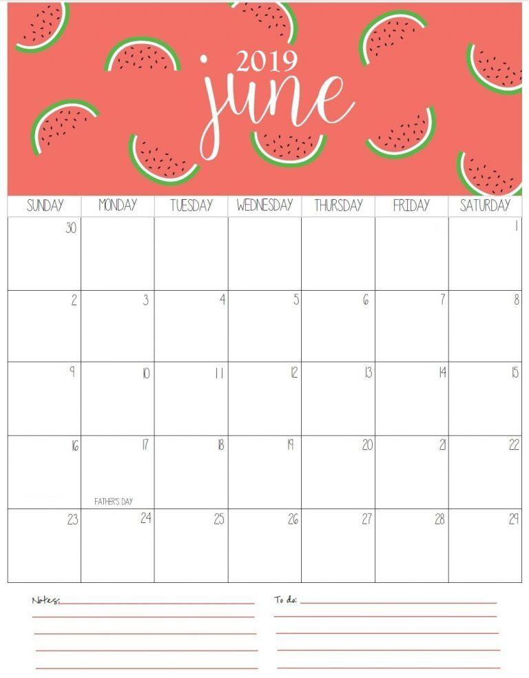 June Monthly Calendar 2019 Pencetakan Inspirasi Dan Dapat Dicetak
