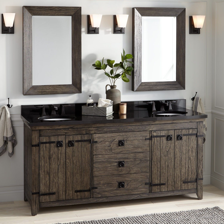 72 Kane Double Vanity For Undermount Sink Rustic Brown Master Bathroom Vanity Vessel Sink Vanity Double Sink Bathroom Vanity
