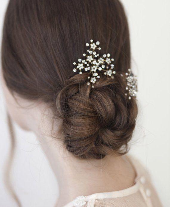 Dandelion Bridal Hairpins Flowers Crystal Hair Pins Bride