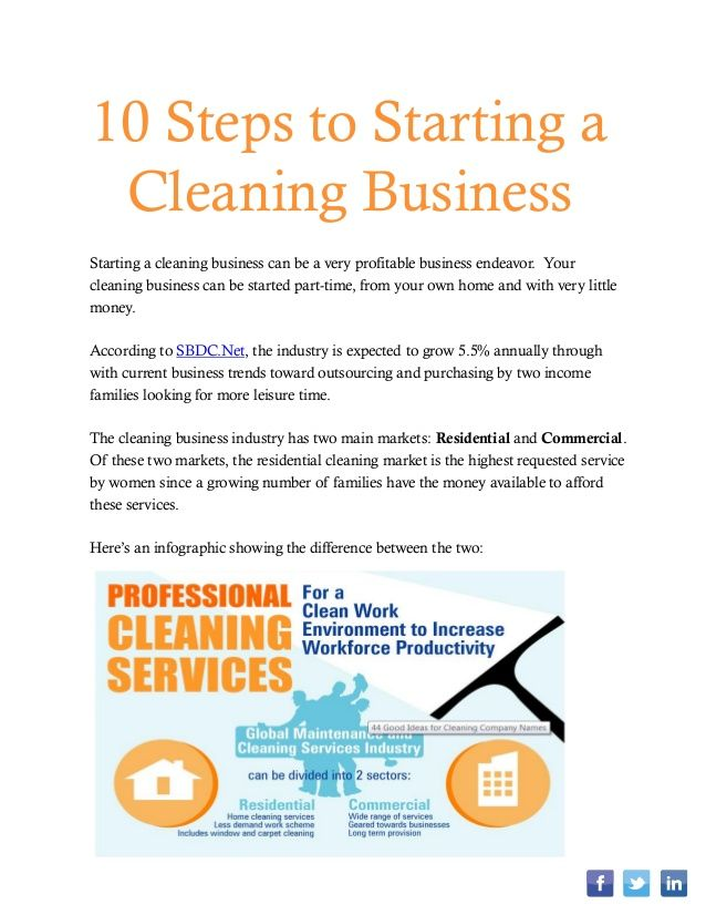 How To Start A Cleaning Business Cleaning Business Cards