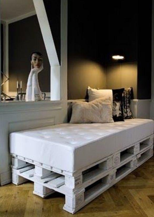 Cute and simple Bedroom Pinterest Palets, Tarimas y Repisas en - camas con tarimas