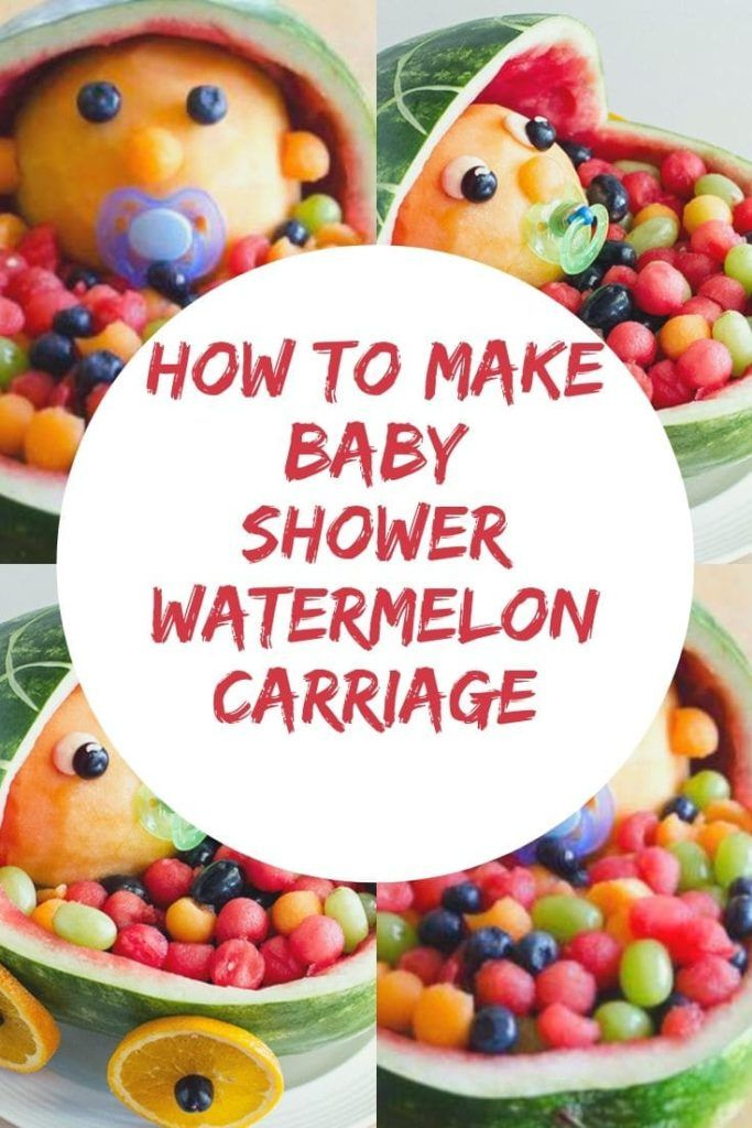 how to make baby shower watermelon carriage -
