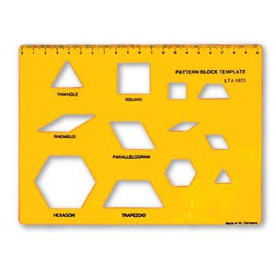 Pattern Blocks Template Pattern block templates, Pattern blocks - pattern block template