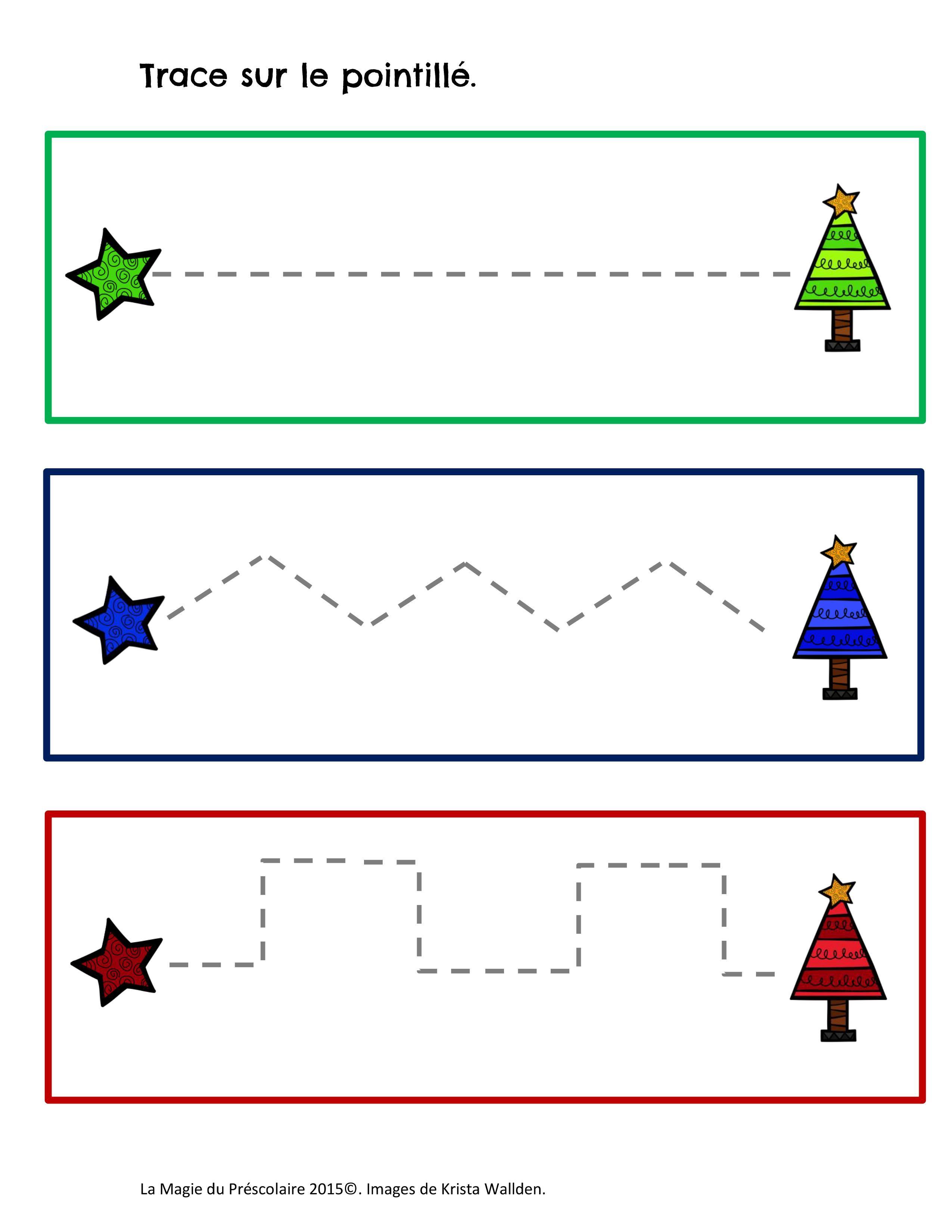 Tracer sur la ligne - Noël