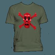 Kids #LEGO #Pirate Red Skull and Bones T-Shirt