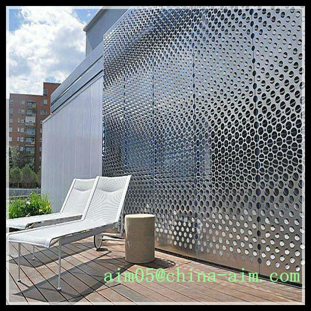 Architecture Metal Screen Decorative Metal Wall Perforated