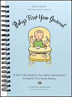 Baby's First Year Journal  is the perfect way for new moms to follow baby's health and development through each day of his or her first year.